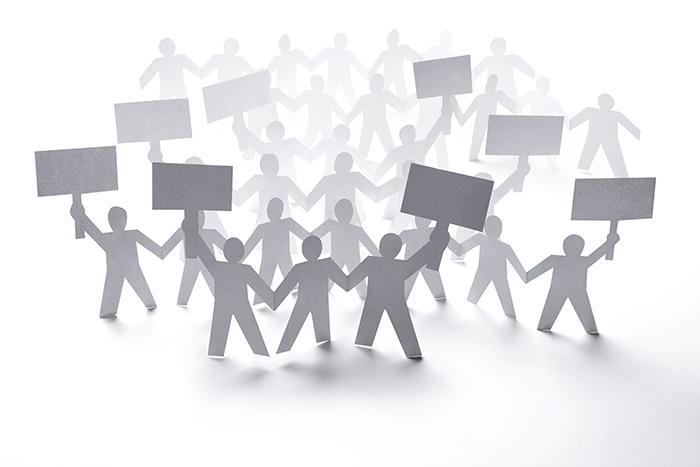 paper people on strike