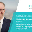 Brett Burns Recognized as a Top Labor & Employment Lawyer